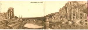 Dinant vu apres la Furia Germanica , Belgium , 1910s