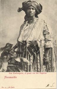 suriname, PARAMARIBO, Coloured Woman in Traditional Dress (1902) Postcard