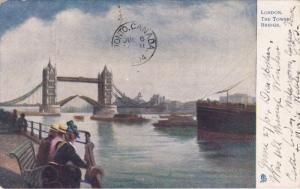 LONDON, England, PU-1904; The Tower Bridge, Bridge Rising