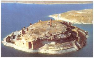Postcard Ar Raqqa, Syria, Aerial View to Jabar Citadel #595