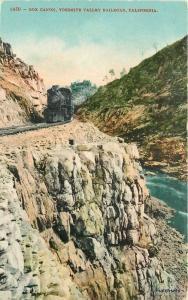 C-1910 Railroad Box Canon Yosemite Valley California Mitchell postcard 7393