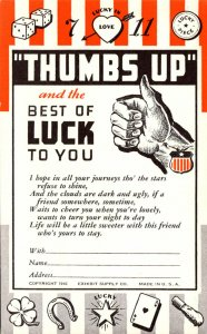Humour Thumbs Up and The Best Of Luck To You