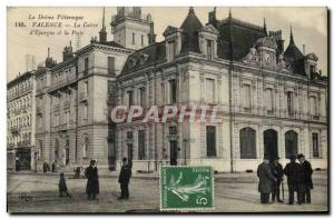 Old Postcard Bank Valencia Caisse d & # 39Epargne and Post Office