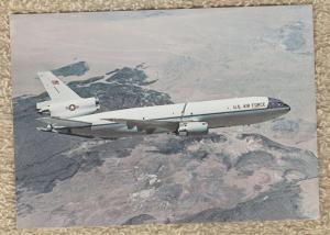 US AIR FORCE KC-10 EXTENDER Postcard Douglas Aircraft Cargo McDonnell Aviation