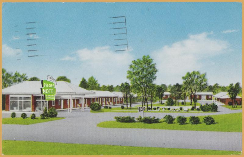 Fayetteville, N.C. Bel-Aire Motel and Restaurant - 1960