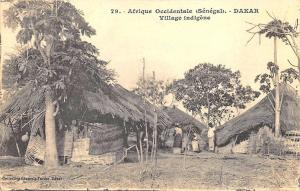 Senegal Dakar Village Indigene Posted Postcard