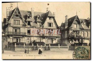 Old Postcard Trouville The Norman house