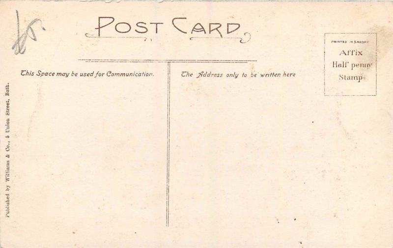 BATH A D  1825 artist postcards Pump Road Old White Hart Old bridge