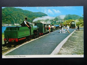 Wales BARMOUTH Fairbourne Railway Station - Old Postcard by Bamforth 3