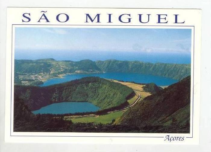 Aerial, Sete Cidades, Lake Santiago, Sao Miguel, Acores,1940-1960