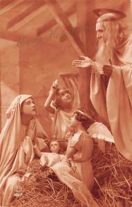 Vrolijk Kerstfeest! Merry Christmas! Nativity Scene, Virgin Birth, Cherub Angels