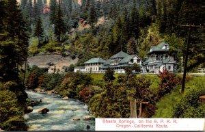 California Shasta Springs On Oregon-California Route Southern Pacific Railroa...