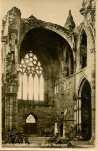UK - Scotland. Melrose Abbey, South Transept     RPPC