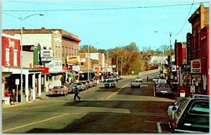Black River Falls, Wisconsin Postcard Downtown Deer Hunting Capitol c1960s