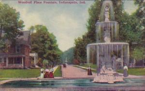 Indiana Indianapolis Woodruff Place Fountain 1909