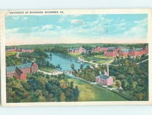 Linen AERIAL VIEW OF UNIVERSITY OF RICHMOND Richmond Virginia VA L7961