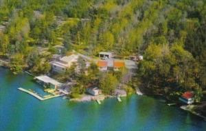 Canada Aerial View Lucky Strike Camp On Lake Nipissing Lavigne Ontario