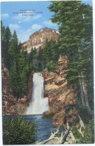 Trick Falls, glacier National Park, Montana, MT, Linen