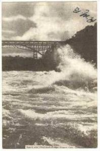 Rapids and Steel Arch Bridge, Niagara Falls, Canada, 1907