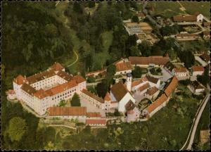 Schloss Wolfegg Burganlage mit Renaissanceschloss Borockfarrkirche aerial view
