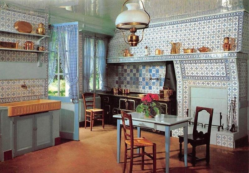 Musee Claude Monet, Giverny, The Ceramictiles and Copperware Returnet to Kitchen