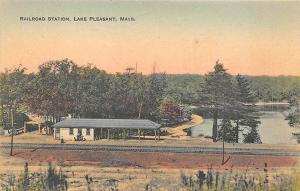 Lake Pleasant MA Railroad Station Train Depot L. E. Henry Postcard