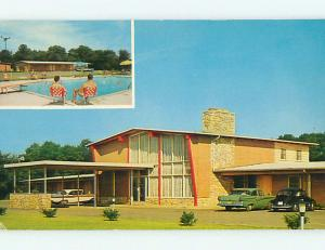 1950's OLD CARS & EASTERNER MOTEL Bordentown New Jersey NJ r0105