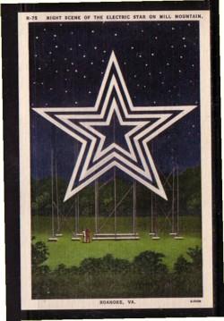 Virginia Postcard Electric Star Mill Mtn Roaoke