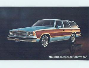 Unused 1978 car dealer postcard CHEVROLET MALIBU CLASSIC STATION WAGON o8199-12