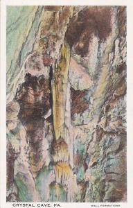 CRYSTAL CAVE, Pennsylvania, 00-10s; Wall Formations