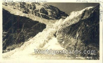 Real Photo Mt Edith Covell Jasper National Park Canada 1947 Missing Stamp