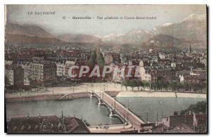 Old Postcard Grenoble and general costs View Saint Andre