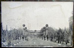 1909 PRESIDENT TAFT INAUGURATION WASHINGTON D.C. ANTIQUE POSTCARD