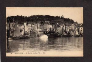 France French Honfleur Le Port et le Mont Joli Ships Carte Postale Postcard
