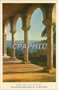 Modern Postcard The Lake of Galilee from Mt. Of Beatitudes