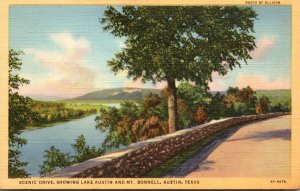Texas Austin Scenic Drive Showing Lake Austin and Mt Bonnell Curteich
