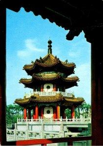 Taiwan Taipei City New Park Three Story Chinese Pagado 1979