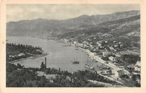 Gruz Croatia Port Harbor Scenic View Antique Postcard (J27871)