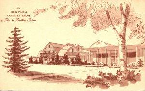 Illinois Elgin Fin'n Feather Farm Milk Pail & Country Shops