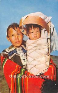 Indian Old Vintage Antique Postcard Post Card Navajo Mother with Baby on Crad...