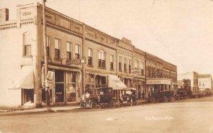 Elk Rapids Michigan Street Scene Real Photo Vintage Postcard JI658329