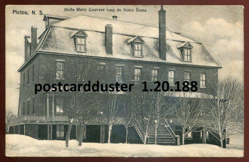dc34 - PICTOU Nova Scotia Postcard 1907 Stella Maris Convent