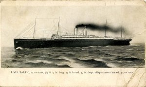 White Star Line - RMS Baltic      (creases)