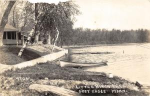 F36/ Grey Eagle Minnesota RPPC Postcard 1937 Little Birch Lake Cottages
