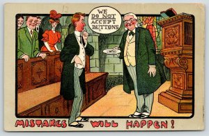 Mistakes Will Happen Conic Series~Churchman Won't Accept Button Offering~Pulpit