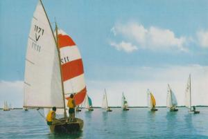 Friese Meren France 1970s French Yacht Boat Race Postcard