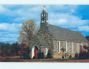 Unused Pre-1980 CHURCH SCENE Gatlinburg Tennessee TN hs6603