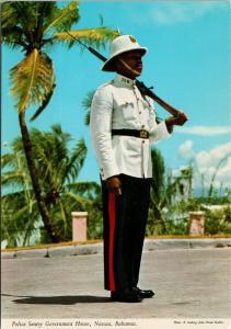 Police Sentry Government House Nassau Bahamas UNUSED Postcard D94