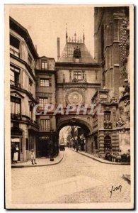 Rouen Old Postcard The big clock L & # 39arcade