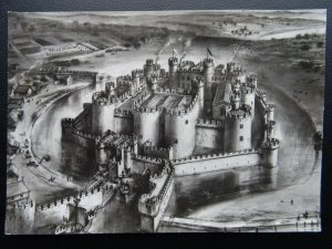 Anglesey BEAUMARIS CASTLE 1323 Artist Impression by Alan Sorrell Old RP Postcard